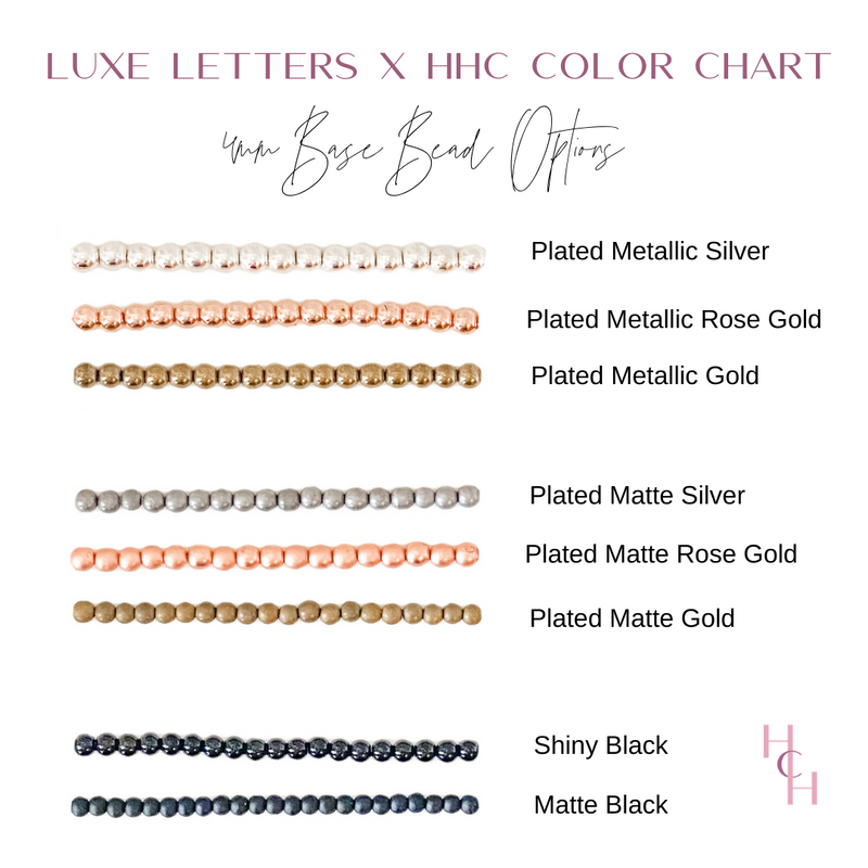 Design Your Own | Dainty Heart Initial Letter Bracelet