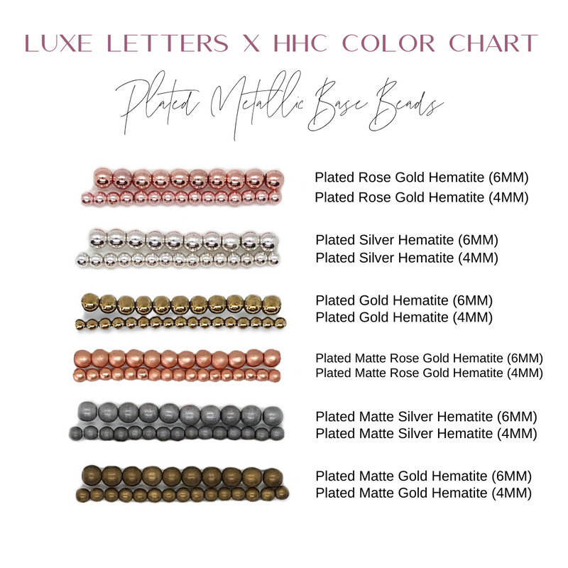 Design Your Own | Plus Sign Letter Bracelet