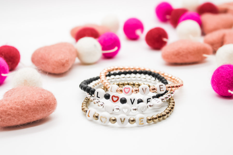 Design Your Own | L♡VE Beaded Letter Bracelet