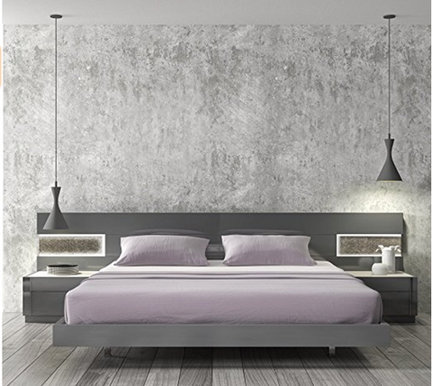 Those Who Are Looking For Beautiful Modern Bedroom Furniture Sets Will Love  The Way That This One From Ju0026M Furniture Appears. It Is Gray In Color And  Has A ...