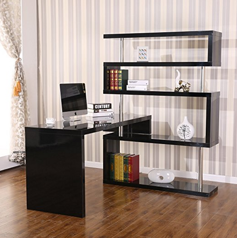 modern office shelving. HOMCOM Will Provide To You The Perfect Ultra Modern Office Furniture Need. This Desk Includes A Shelf, Which Extra Space And Comfort Shelving