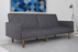 Mid-century Modern Futon Sofa Day Bed by DHP