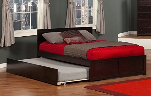 Full Trundle Bed by Atlantic Furniture - Espresso Brown