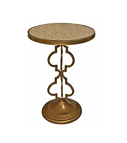 Art Deco Accent Table by Toscano - Mirrored Tabletop
