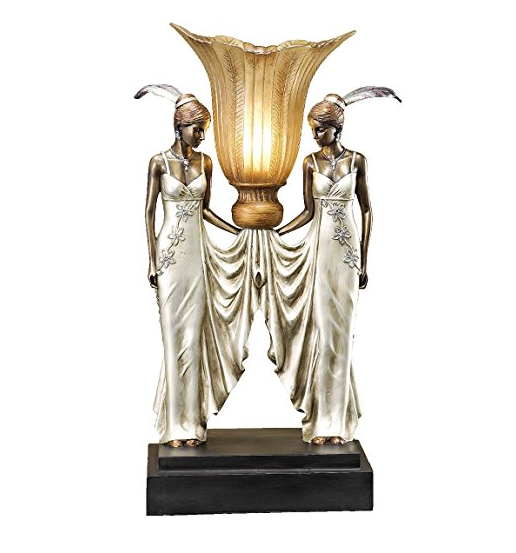 Art Deco Table Lamp by Toscano