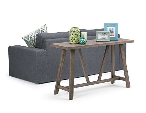 Modern Driftwood Console Sofa Table by Simpli