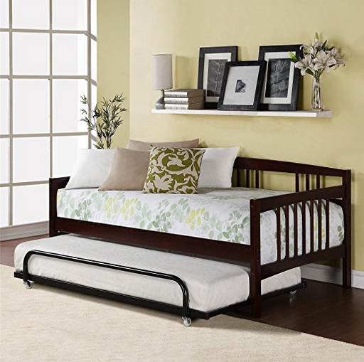 Twin Espresso Wood Day Bed by Dorel Living