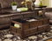 Traditional Wooden Lift Top Coffee Table by Ashley Furniture