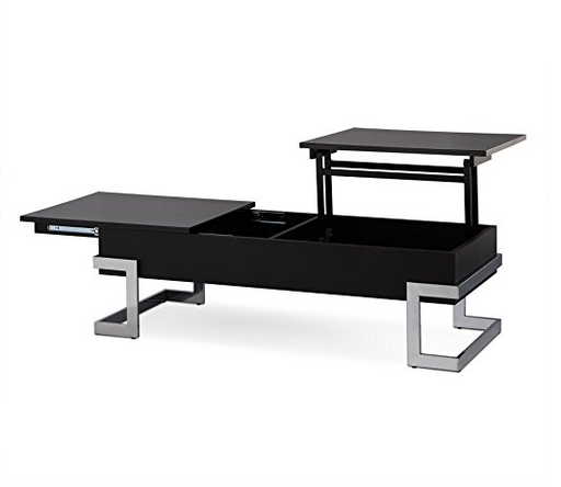 Ultra Modern Black & Chrome Lift Top Coffee Table by Acme Furniture
