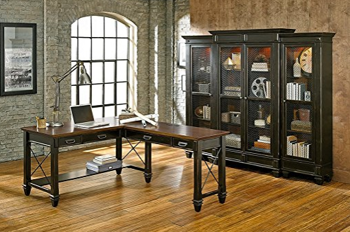 Elegant L-Shaped Office Desk by Martin Furniture - Black