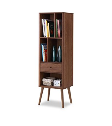 Mid-century Modern Bookcase Organizer by Baxton Furniture