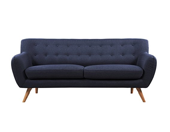 Mid-century Modern Sofa by Divano Roma Furniture - Assorted Colors