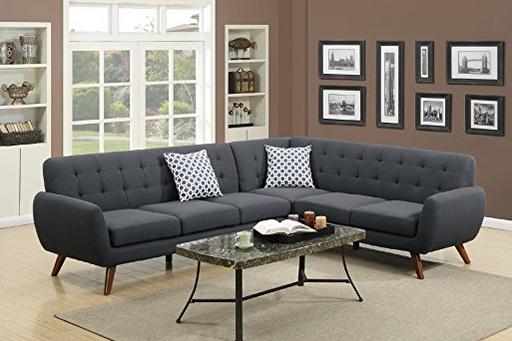 Mid-century Modern Sectional Sofa by Madison - Assorted Colors