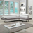Ultra Modern Sectional Sofa by Divano Roma Furniture