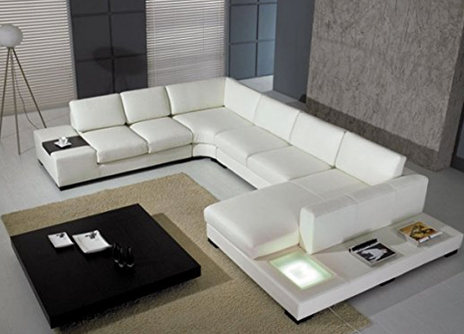 Ultra Modern White Leather Sectional Sofa By VIG Furniture