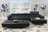 Ultra Modern Black Leather Sectional Sofa by Poundex