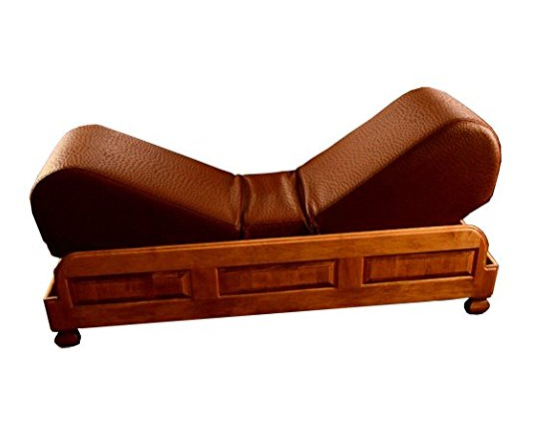 Brown Leather Luxury Sex Chair by Butterfly Settee