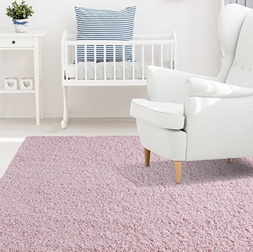 Pink Plush Pile Area Shag Rug for Kids by iCustomRug - Assorted Colors