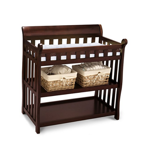 Luxury Baby Changing Table by Delta Children - Espresso Wood