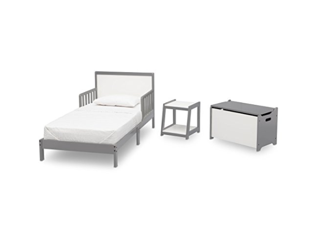 Complete 3 Piece Toddler Bedroom Set - Bed, Toy Box, Side Table by Delta Children