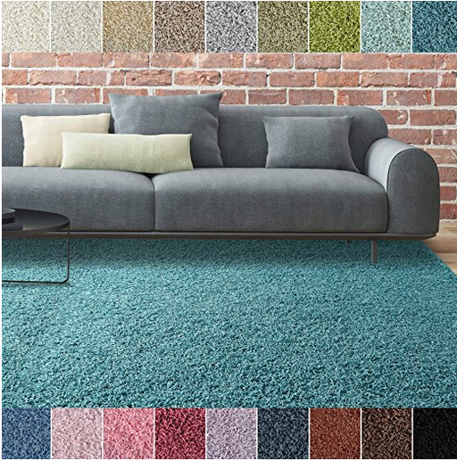 Thick Area Shag Rug by iCustomRug - Assorted Colors