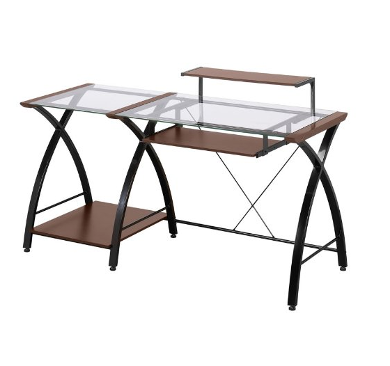 Contemporary Glass Office Desk by Z-Line Designs