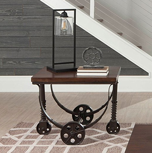 Steampunk End Table Furniture By Coaster