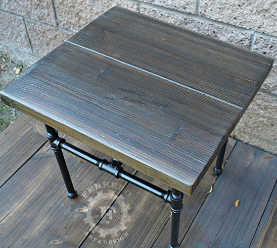 Rustic Steampunk End Table Furniture By Ferrero Art Design