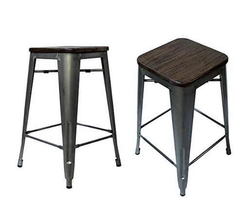 Steampunk Counter Stool Chairs by Laura Davidson Furniture