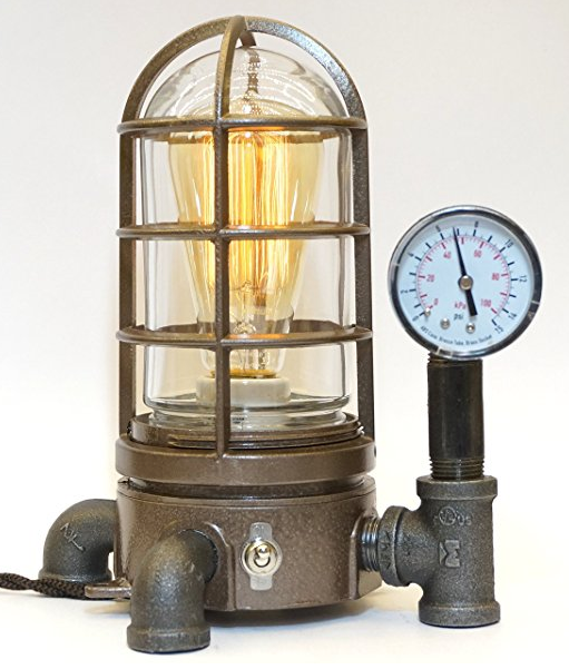 Steampunk Vapor Proof Desk Lamp by SteamLIt