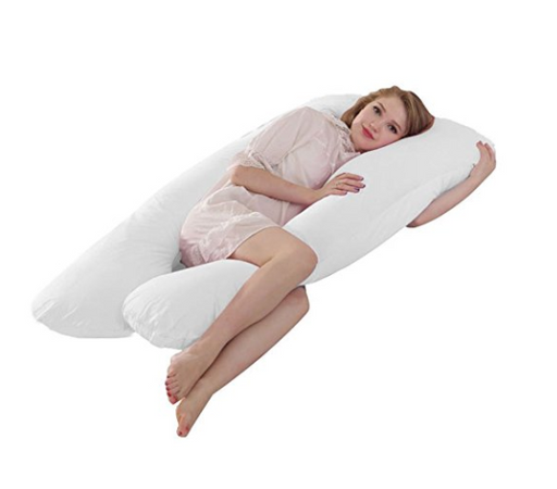 Full Body U-Shaped Cotton Pregnancy Pillow by Queen Rose