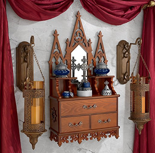 Gothic Display Cabinet by Toscano
