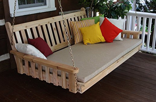 Unfinished Pine Wood Swing Bed By Furniture Barn USA   Amish Made