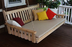 Unfinished Pine Wood Swing Bed by Furniture Barn USA - Amish-Made