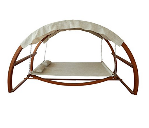 Ultra Modern Swing Bed with Canopy by Leisure Season