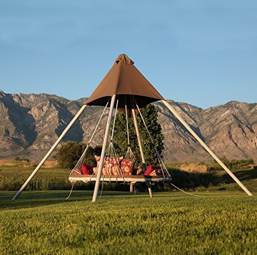 High-End Luxury Pyramid Swing Bed by Skywalker Sports - SkyBed