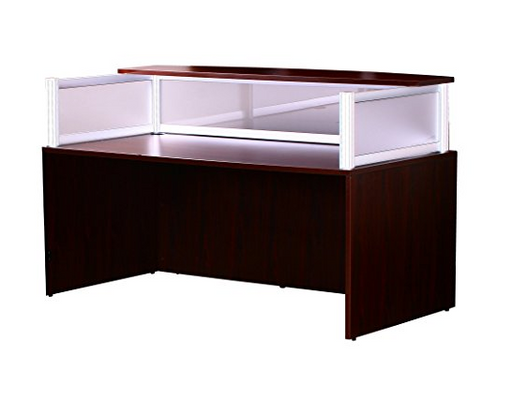 Mahogany Reception Desk by Boss Office Products