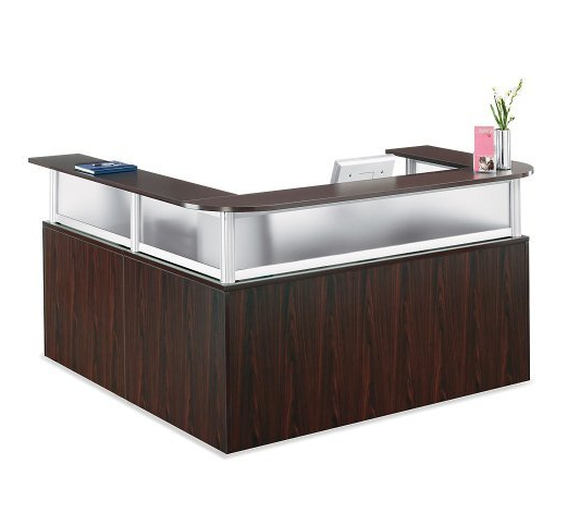Modern L-Shaped Reception Desk by Officient