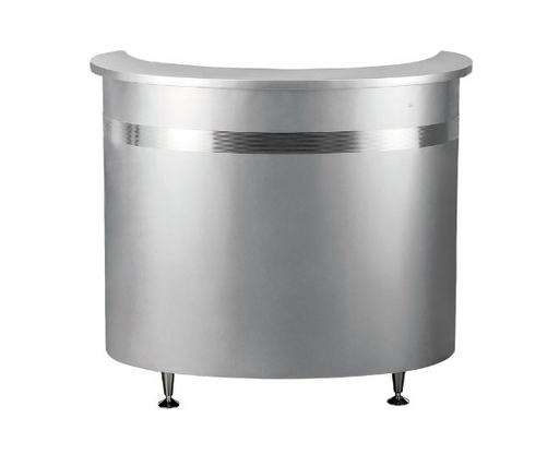Modern Curved Metal Beauty Salon Reception Desk by DIR