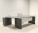 2 Piece Ultra Modern L-Shaped Office Desk by UTM