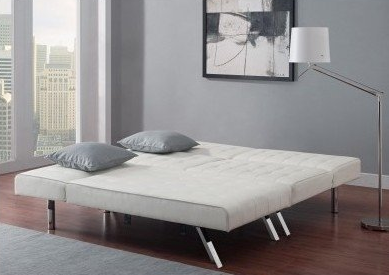 White Leather Modern Sofa Bed by Emily