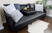 Black Leather Modern Sofa Bed by Comfify - Futon, Cup Holders