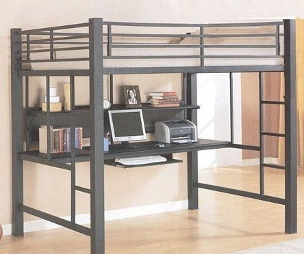 Full Size Loft Bed with Work Station Underneath by Coaster Home Furnishings