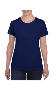 GILDAN LADIES SEMI FITTED COTTON JERSEY T-SHIRT