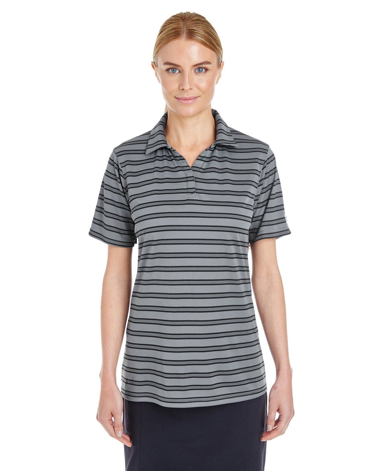 UNDER ARMOUR LADIES' UA CORP TECH STRIPE POLO