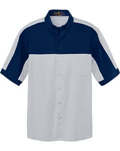 NORTH END MEN'S COLOR-BLOCK SHORT SLEEVE SHIRT