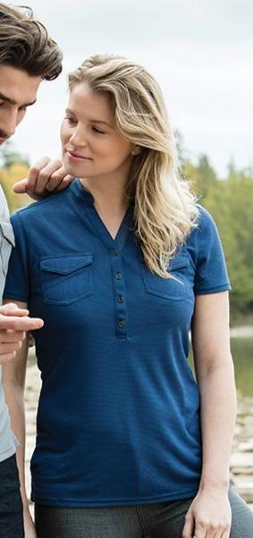 ROOTS73 LADIES LUNENBURG SHORT SLEEVE POLO