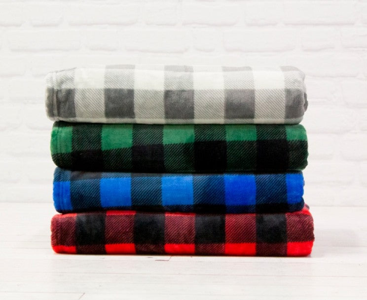 WHITERIDGE HUNTLY PLAID THROW BLANKET