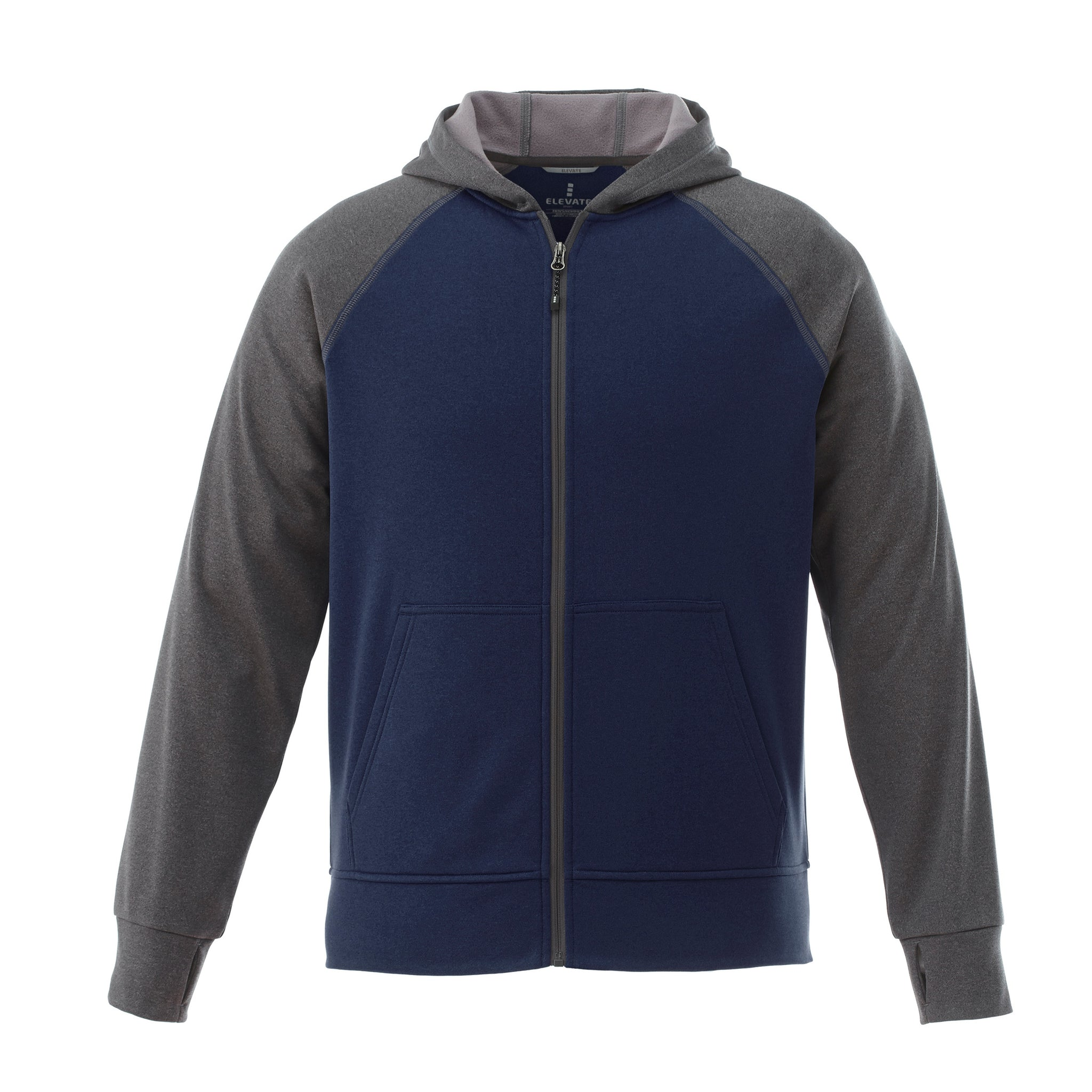 ELEVATE MEN'S ANSHI KNIT FULL ZIP HOODIE