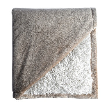 UPTOWN SHERPA LINED THROW BLANKET